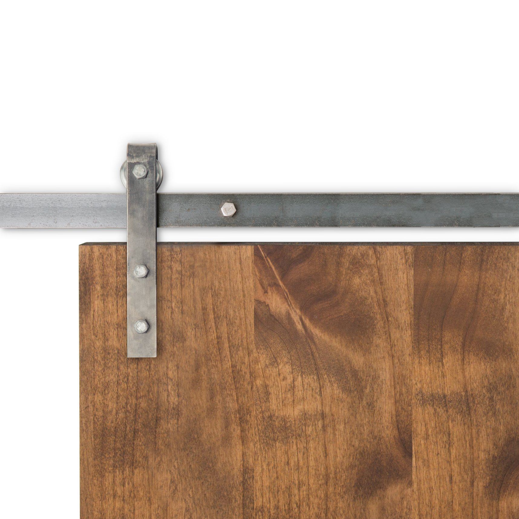Artisan Hardware Micro |Pick Your Track Size|Color Barn Door Hardware Kit | 5 FT 6 Inches |USA MADE | Track | Raw Steel