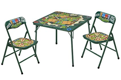 Brilliant Teenage Mutant Ninja Turtles 3 Piece Table And Chair Set Ibusinesslaw Wood Chair Design Ideas Ibusinesslaworg