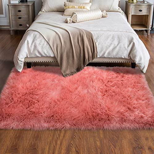 Softlife Fluffy Faux Fur Sheepskin Rugs Luxurious Wool Area Rug