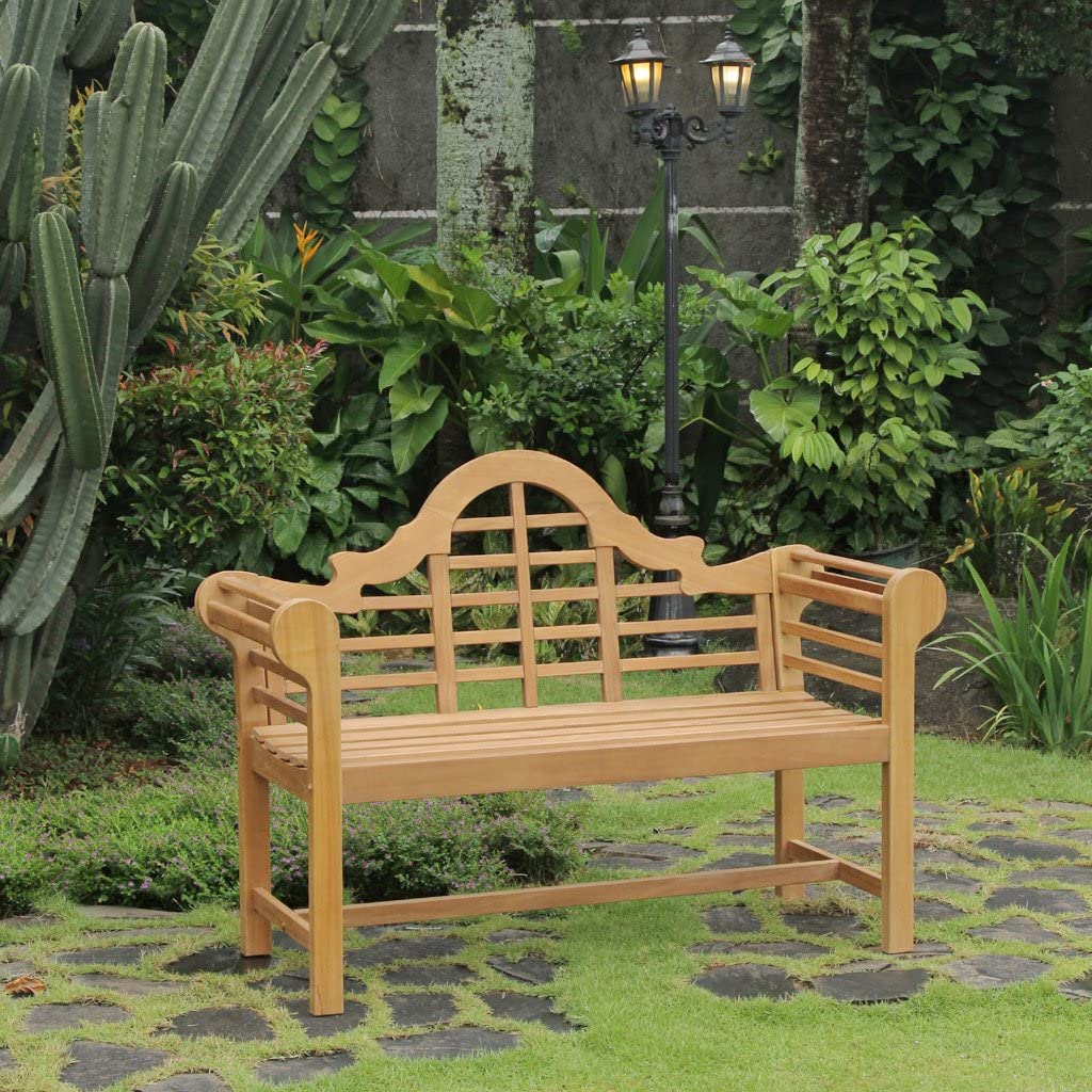 Cambridge Casual Solid Teak Wood Lutyens 4' Garden Bench, 4-Foot
