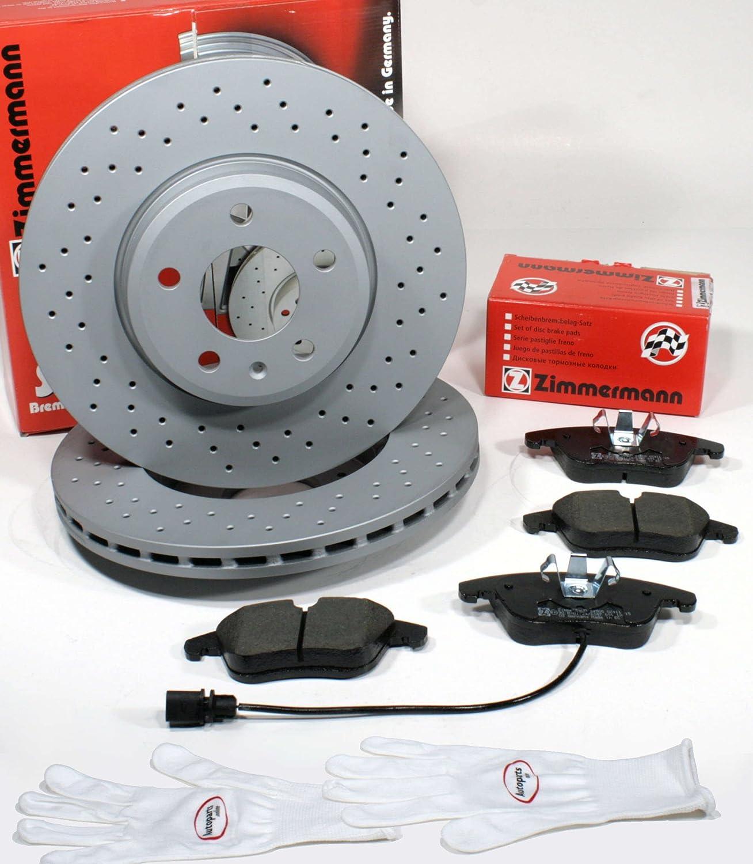 Bremsbel/äge f/ür Vorne//die Vorderachse Autoparts-Online Set 60012135 Zimmermann Sport Bremsscheiben 1LT Gelocht Coat Z//Bremsen