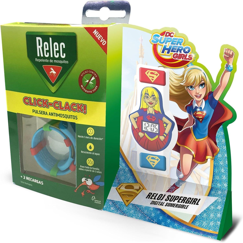 Relec Pulsera Repelente Antimosquitos Superhéroes Super Girl - 1 Unidad