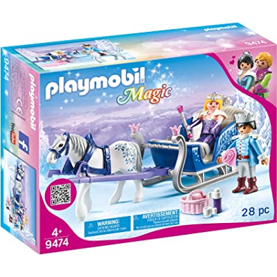 PLAYMOBIL Sleigh with Royal Couple: Toys & Games
