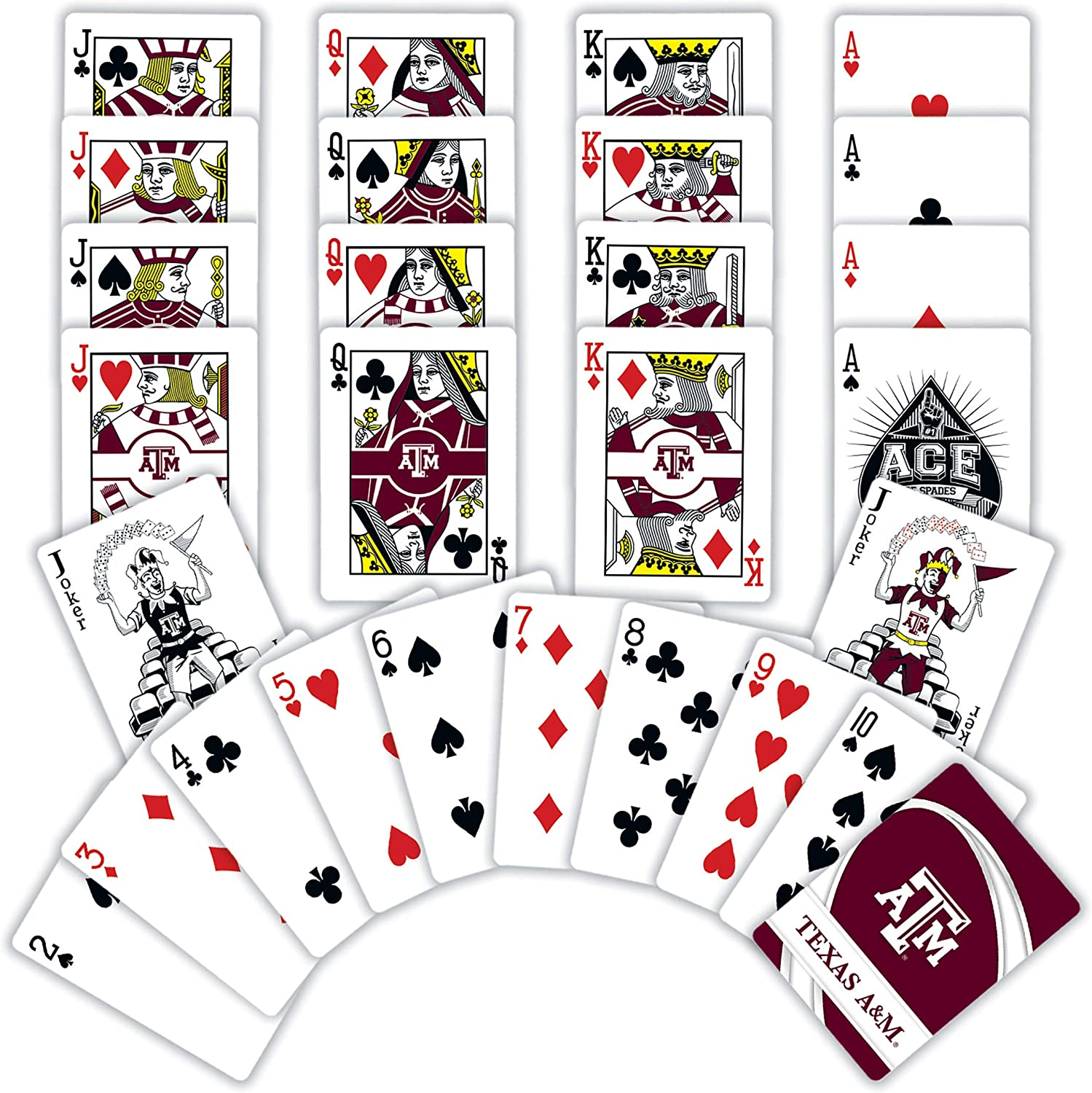 MasterPieces NCAA Texas A/&M Aggies Playing Cards 2.5 x 3.5
