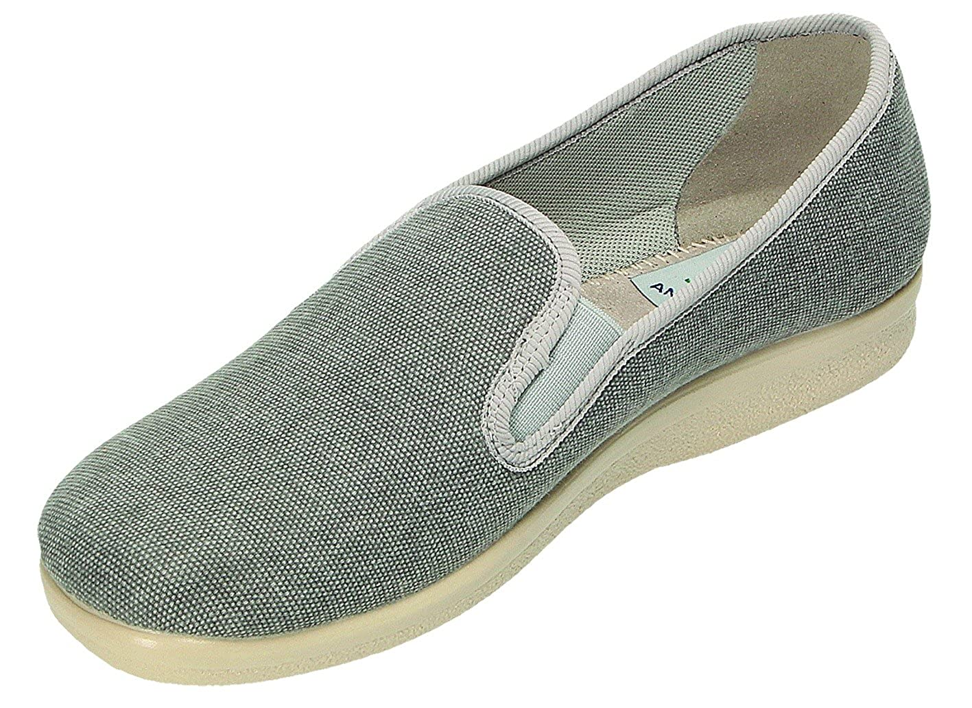 567a4c52f5bf Fly Flot Men s Slippers Grey Grey Grey Size  9 UK  Amazon.co.uk  Shoes    Bags