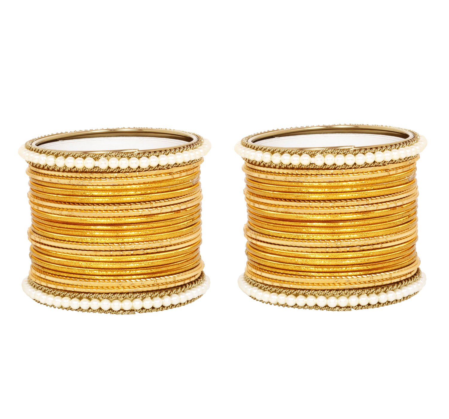 Ratna Exclusive Indian Turmeric color Wedding & Engagement ceremony bangle set women bangles (2.4)