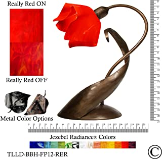 product image for Jezebel Radiance TLLD-BBH-FP12-RER Flame Style Brown with Brown Highlights Lazy Daisy Lamp, Fiery Red