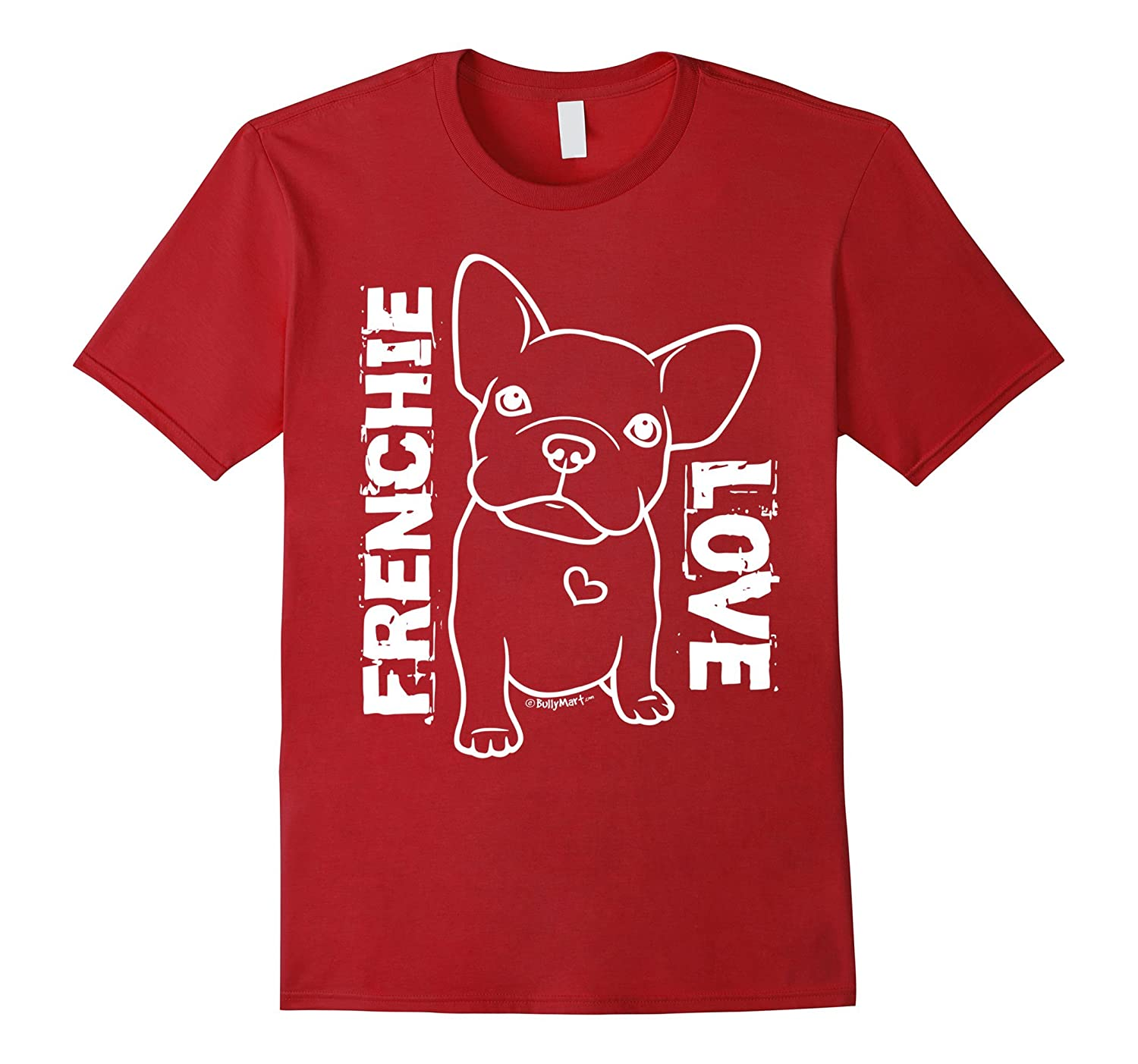 French Bulldog Shirts - Frenchie Love - White-RT
