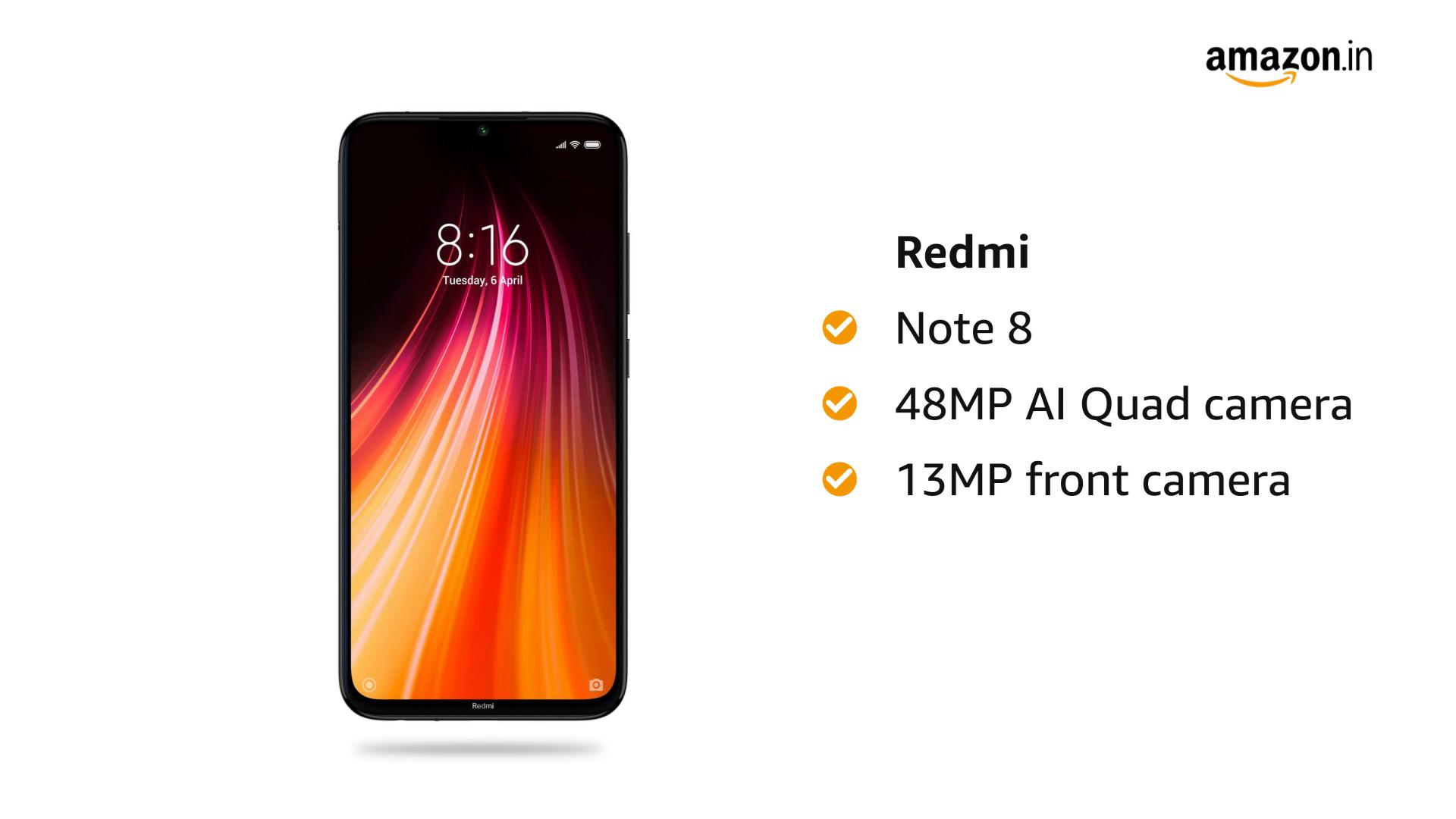 Redmi Note 8 (Neptune Blue, 4GB RAM, 64GB Storage)