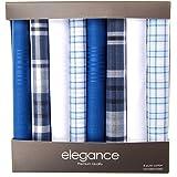 Retreez 8 Piece Pure Cotton Assorted Men's Handkerchiefs Hanky Gift Box Set, Christmas gift - Assorted Set 001