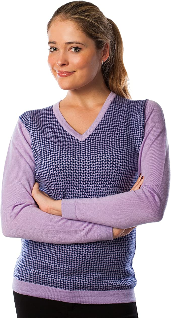 Peter Scott Damen Pullover Violett Fliederfarben Amazon De Bekleidung
