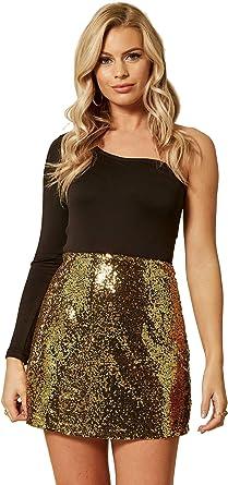 UNIQUE21 Minifalda de Lentejuelas para Mujer: Amazon.es: Ropa y ...
