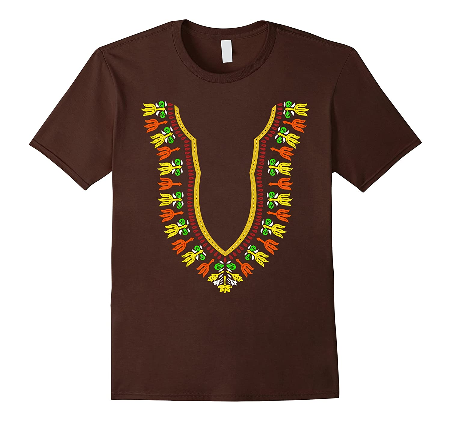 African Dashiki Golden Collar Warm Hearted Boubou T-Shirt