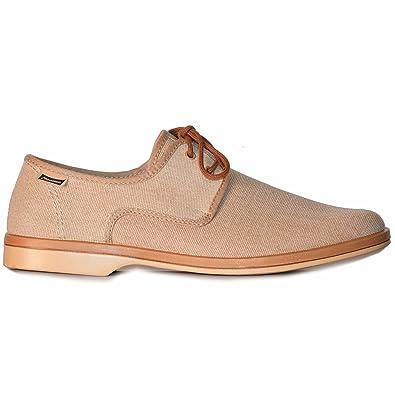 Maians. Zapato de Cordones para Hombre Beige. Artesanal Retro 100% Algodon. Made in Spain. (40 EU) vjejk