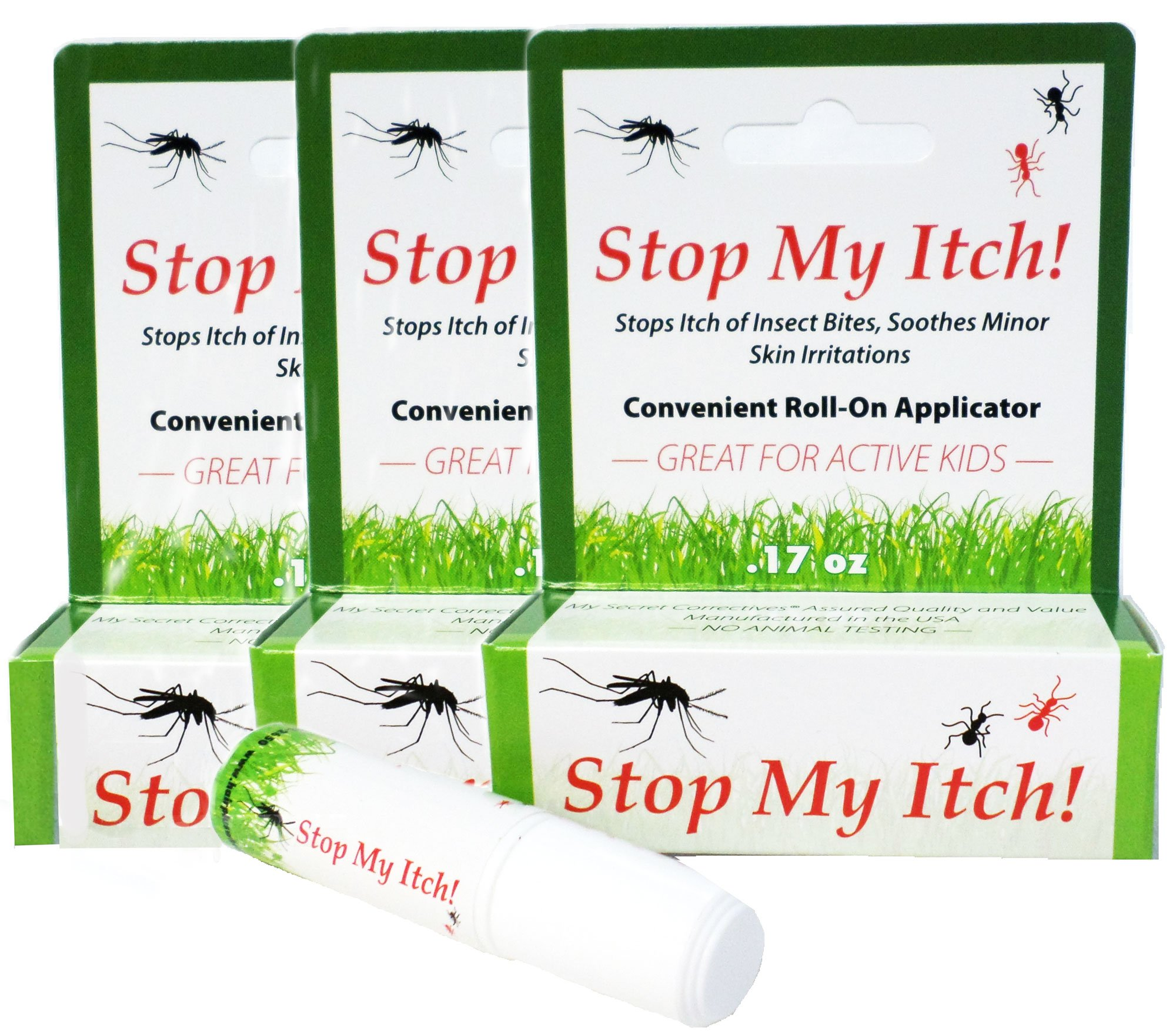 Stop My Itch! Three Pack/Instantly Stops The Itch of Mosquito Bites (Also Gnats, Ticks, Flies, May Flies and Many More); Soothes Scrapes and Minor Skin Irritation. Quick and Effective/0.17