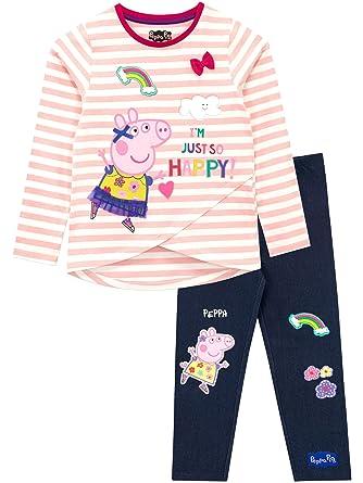 9d371dd1da8258 Peppa Pig Girls Peppa Top & Leggings Set Multicoloured Ages 12 to 18 Months