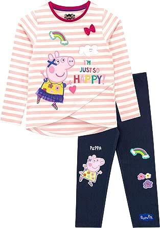 Peppa Pig - Conjunto de Top y Leggings para niñas - Peppa