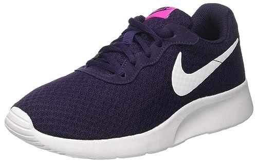 Nike Wmns Tanjun, Zapatillas Mujer, Morado (Purple Dynasty/White/Fire Pink), 36.5 EU