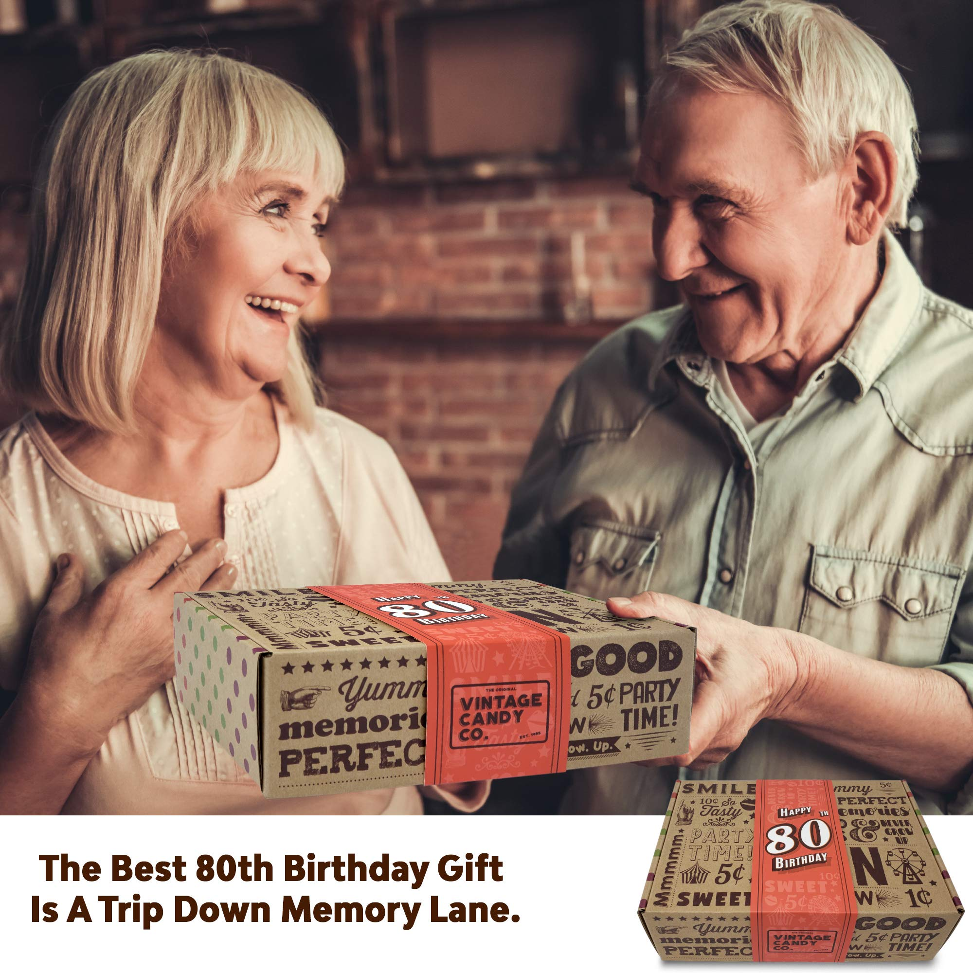 VINTAGE CANDY CO. 80TH BIRTHDAY RETRO CANDY GIFT BOX - 1939 Decade Nostalgic Childhood Candies - Fun Gag Gift Basket for Milestone EIGHTIETH Birthday - PERFECT For Man Or Woman Turning 80 Years Old by Vintage Candy Co. (Image #7)