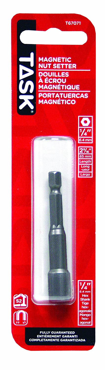 Task Tools T67071 2-9//16-Inch Magnetic Nut Setter with 1//4-Inch Nut Size
