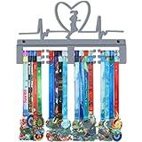 GENOVESE Running Medal Hanger,Marathon Medals Display Holder Rack,Sturdy Steel Metal,Wall Mounted Race Medals