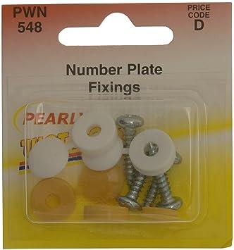 Pearl pwn548 Número placa tornillos y tapas - blanco/amarillo: Amazon.es: Coche y moto