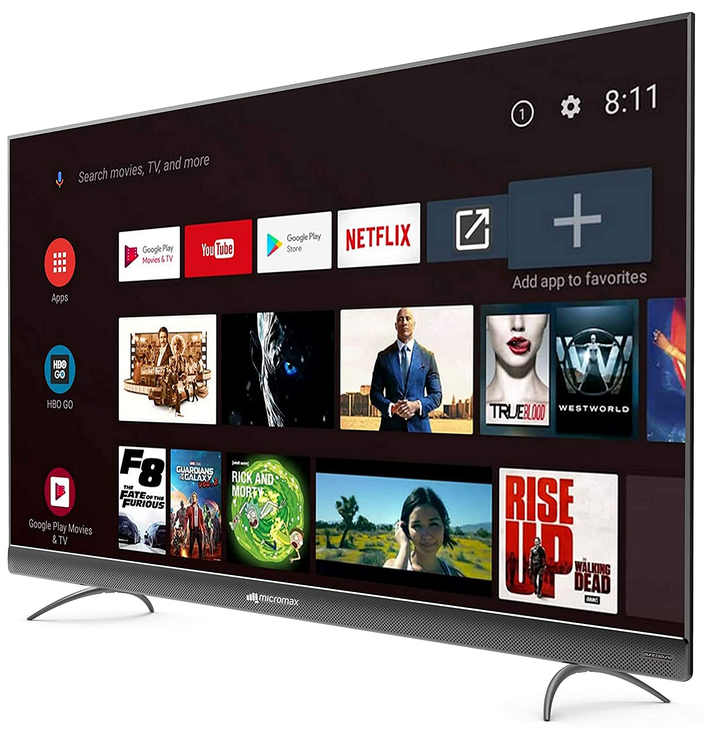 4K UHD Micromax (55 inches) LED Certified Android TV L55TA7000UHD