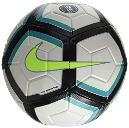 Nike Strike Team Lightweight Ball (White Black Turquoise Volt) (5 8d0cae7c01154