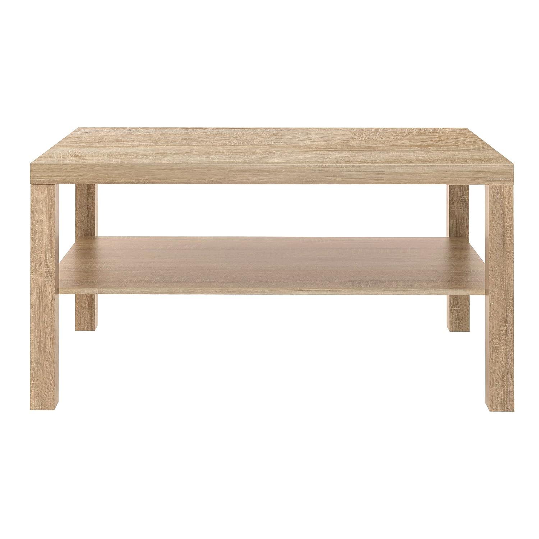 Furniture 247 - Tavolino da salotto rettangolare con piano d'appoggio in rovere naturale SourcebyNet 10065958 Natural oak