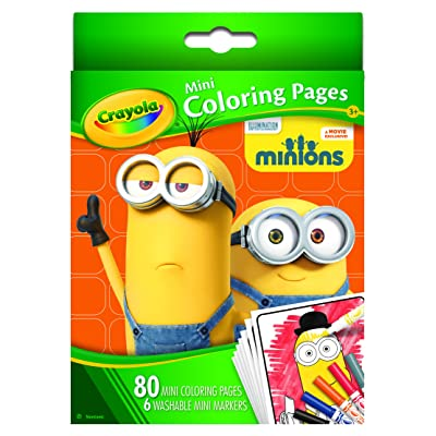 Crayola Mini Coloring Pages - Minions: Toys & Games