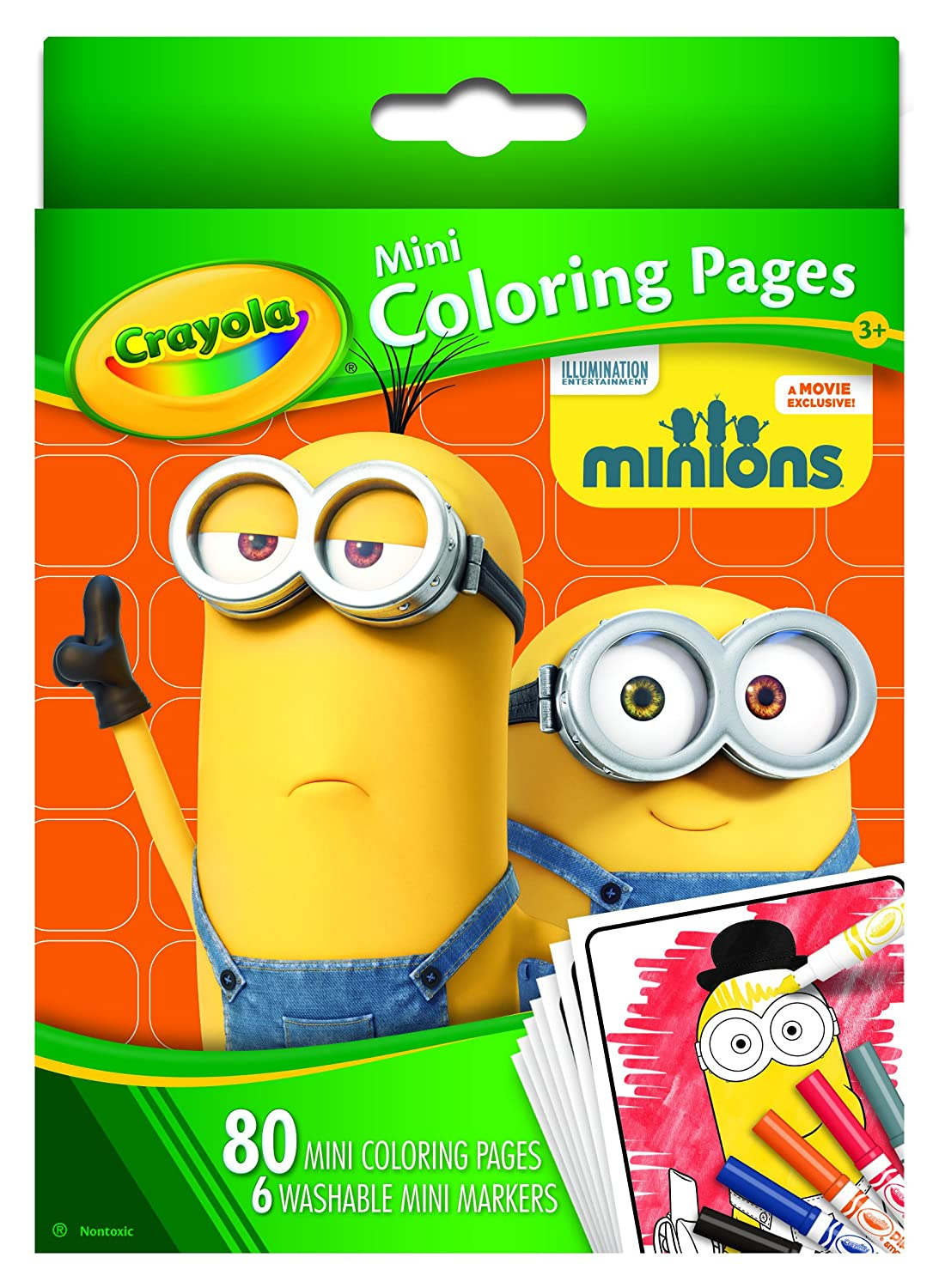 Amazon.com: Crayola Mini Coloring Pages - Minions: Toys & Games