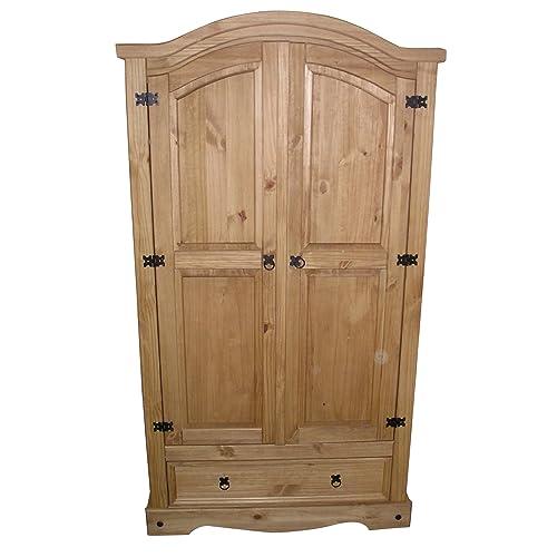 Mercers Furniture Corona 2 Door 1 Drawer Wardrobe - Antique Bedroom Furniture: Amazon.co.uk