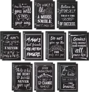 20 Pieces Inspirational Notepads Mini Quote Notepads Small Pocket Notebooks Motivational Journal Notebook with Chalkboard Design for Office School Home Travel Supplies, 10 Styles, 3.2 x 5 Inches