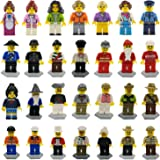 MiniFigures Set-28 Piece Minifigures Set of Professions, Building Bricks of Community People from Different Industries Complete, Building Blocks Kids Educational Toy Gift (28MiniFigures)