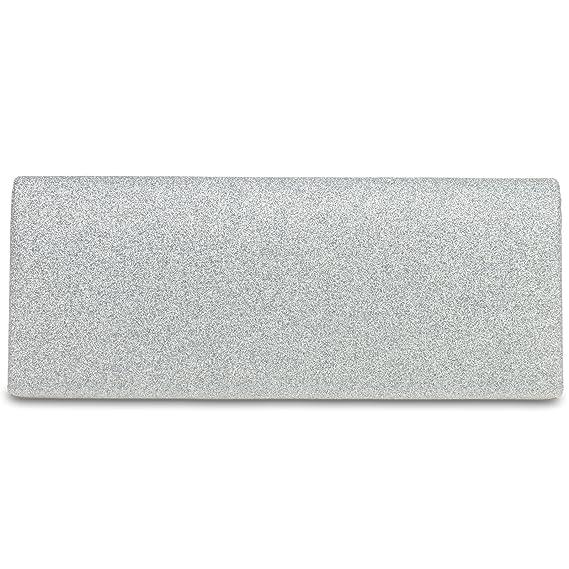 451cf0dcb8 CASPAR TA343 Clutch/Pochette de soirée à paillettes pour femme élégante,  Couleur:argenté;Taille:One Size: Amazon.fr: Vêtements et accessoires