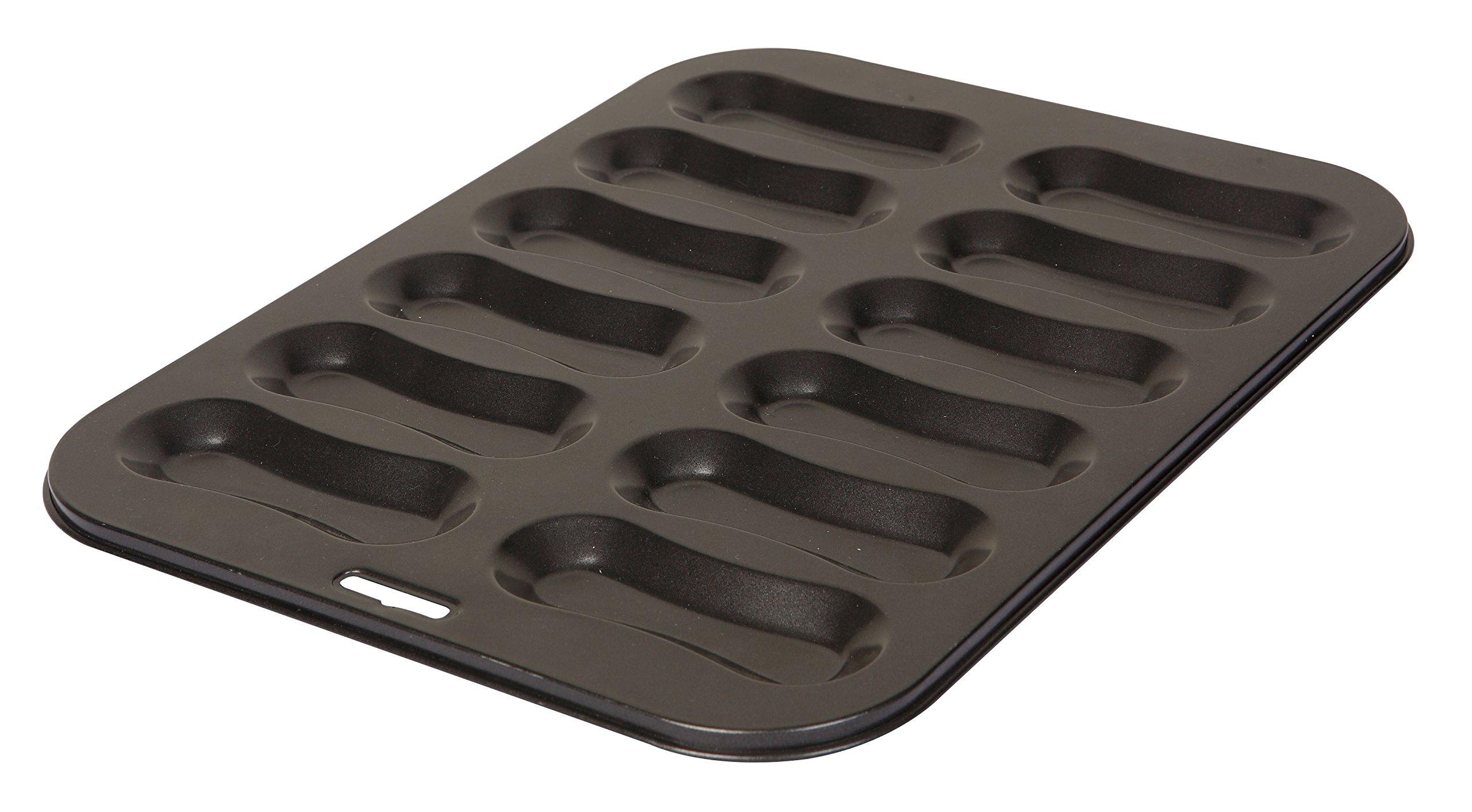 Dexam Non-Stick 12 Hole Eclair Pan Tray Tin