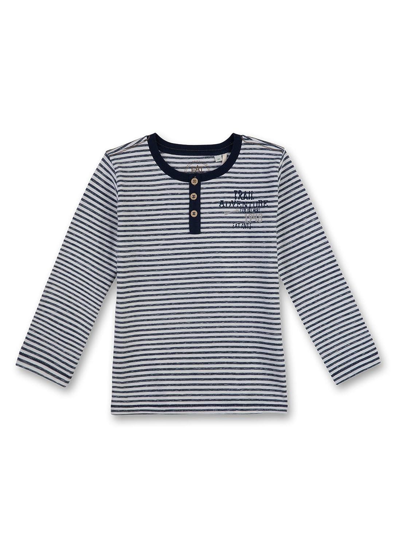 Sanetta Baby-Jungen Langarmshirts 124604, Blau (deep Blue 5993) 140
