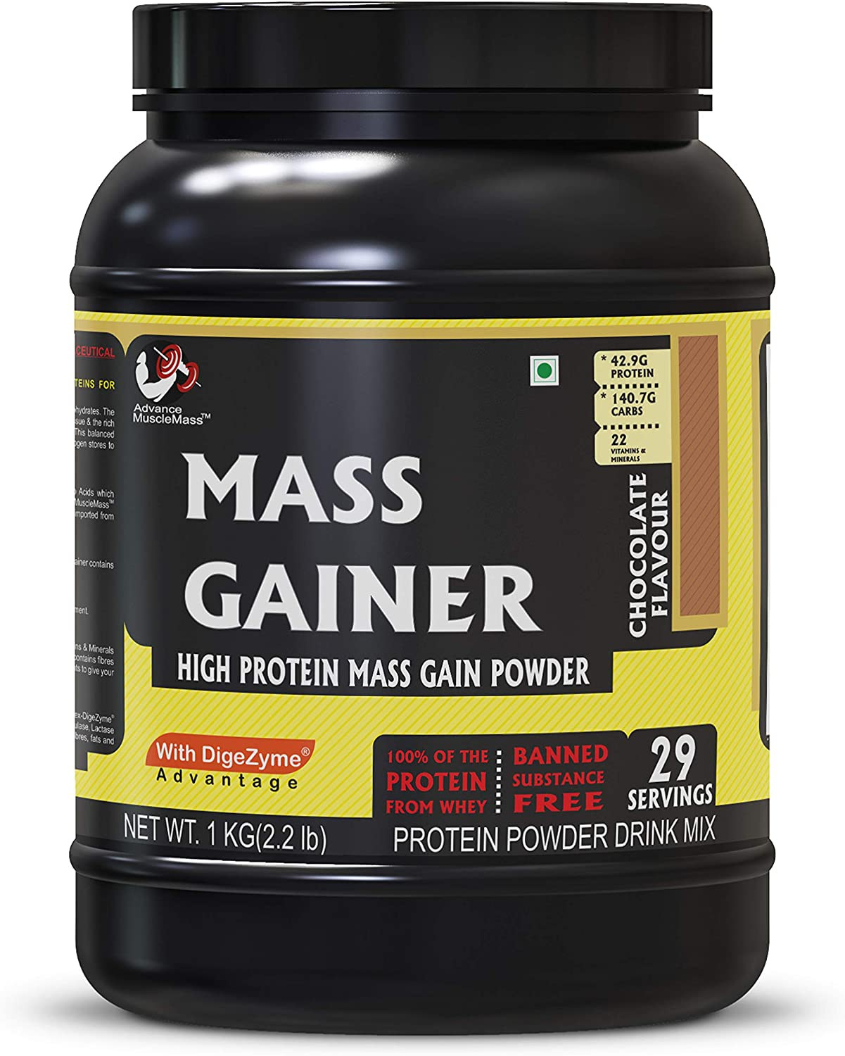 Advance MuscleMass High Protein Mass Gainer