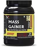 Advance MuscleMass High Protein Mass Gainer Supplement Powder (Chocolate) - 1 Kg / 2. 2 Lb