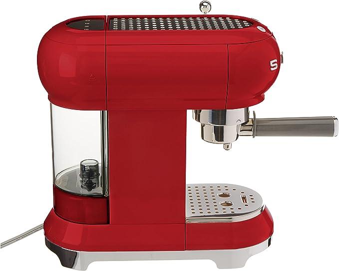 SMEG Máquina de café expreso ECF01RDEU, 1350 W, 2 kg, plástico, rojo: Amazon.es: Hogar