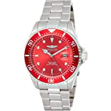 Invicta Men's Pro Diver 43mm Stainless Steel Quartz Watch, Silver/Red, Silver/Charcoal (Model: 22048, 25715)