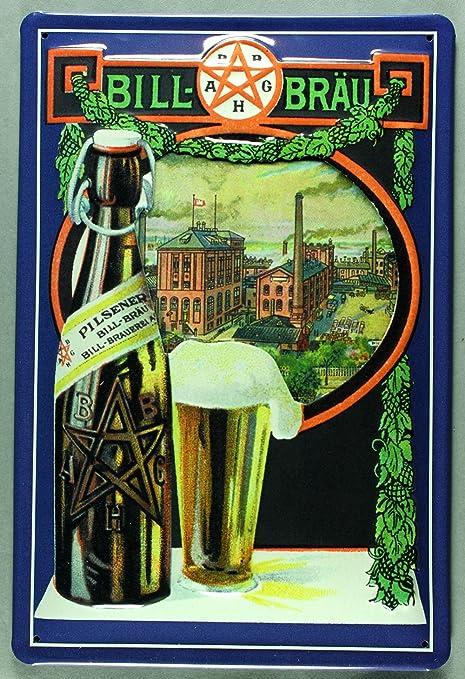 Blechschild Brauerei Bier Küche Bar