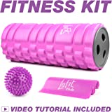 Foam Roller for Muscles Kit - Massage Ball and Resistance Band for Women - Muscle Roller for Back Exercise - Portable Massager Rollers & Balls for Physical Therapy - Sports Gifts for Women