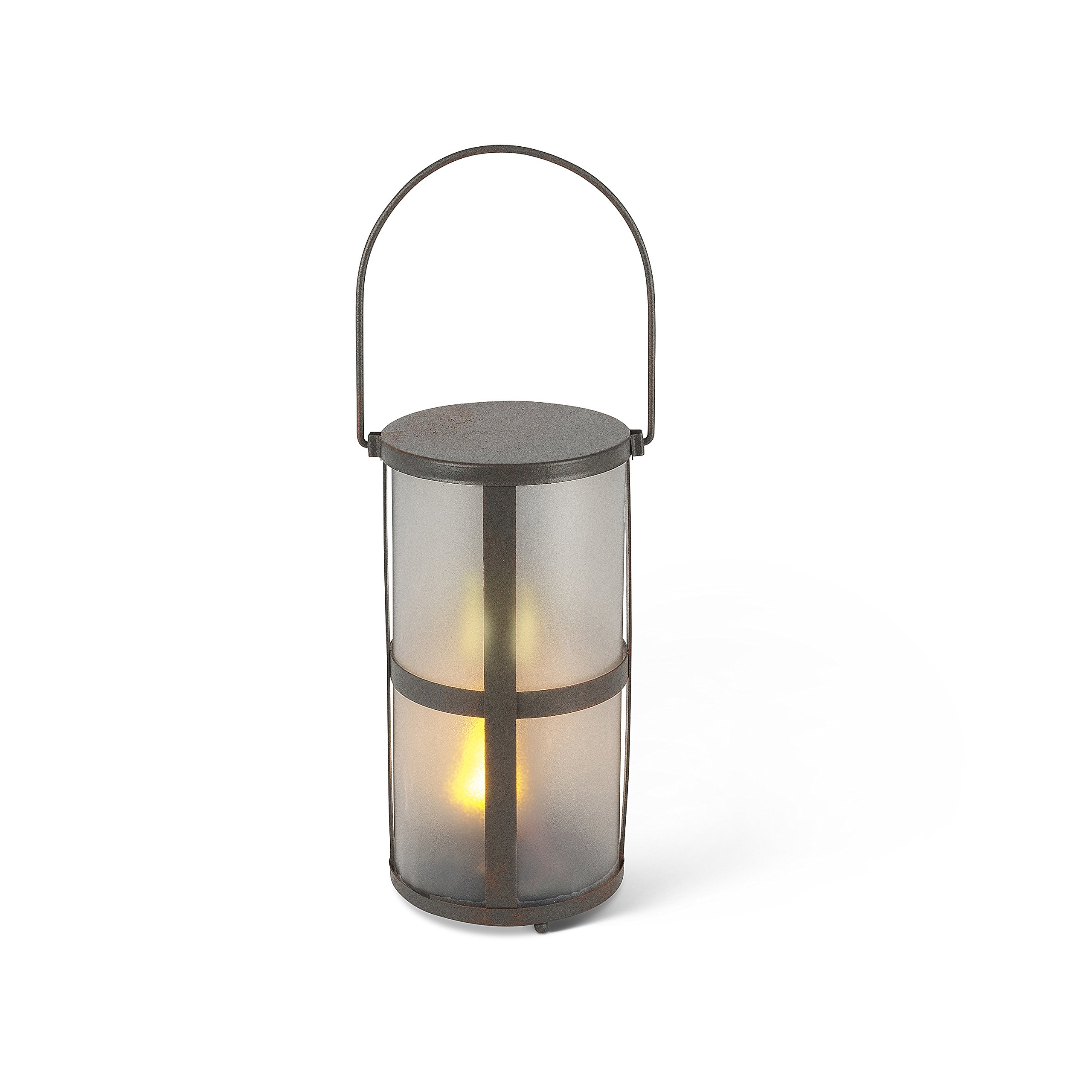 Everlasting Glow 7.87'' H Fireglow(TM) Lantern H, 3.93Inl x 3.93Inw x 7.87Inh