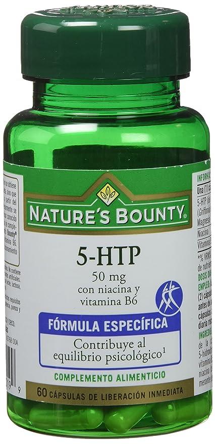 Natures Bounty 5 Htp 50 Mg con Niacina y Vitamina B6-60 Cápsulas