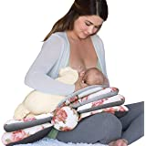 Infantino Elevate Adjustable Nursing and Breastfeeding Pillow - with multiple angle-altering layers for proper positioning to