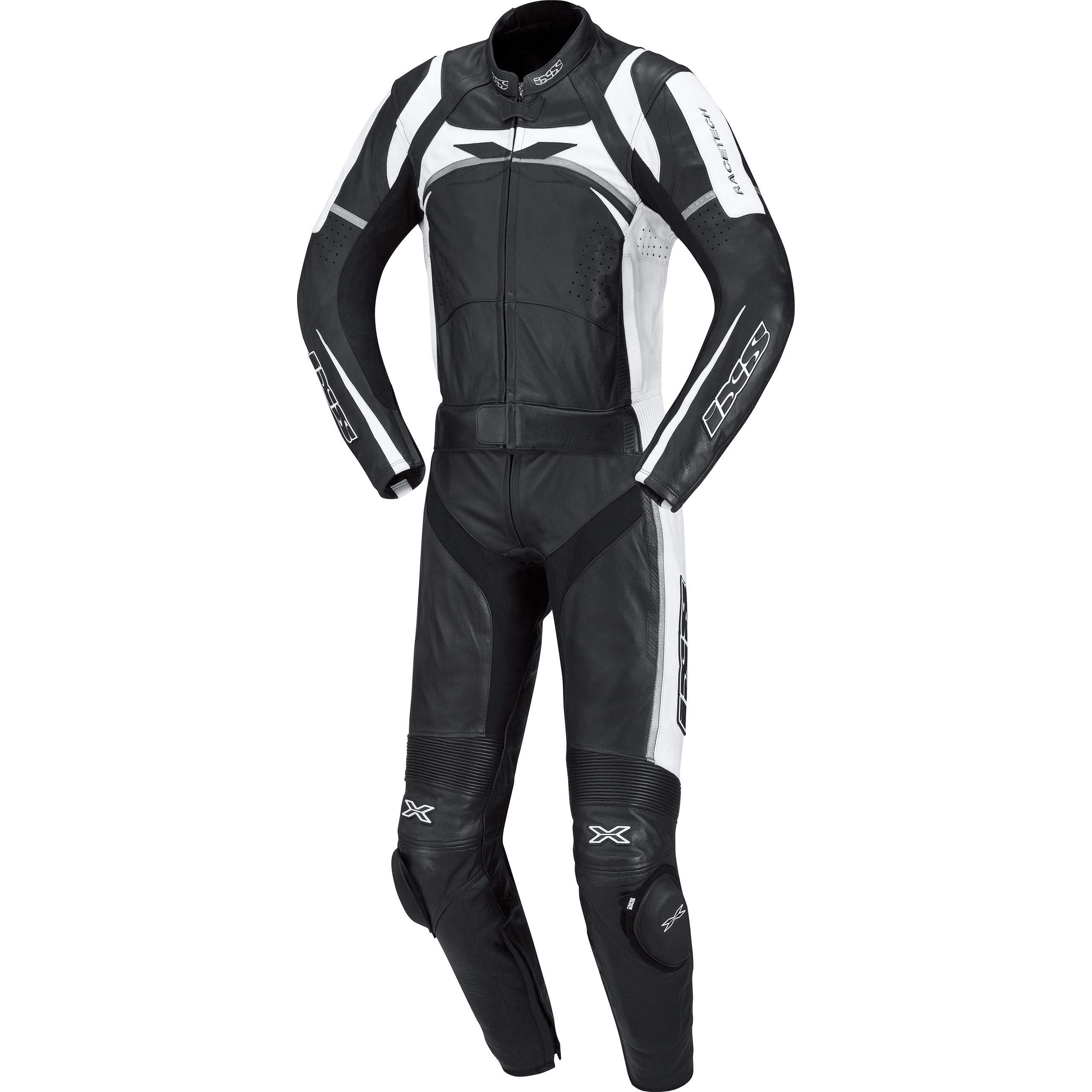 IXS CAMARO 2-Piece Suit (Black/White/Silver, US Size 42/EU Size 52)