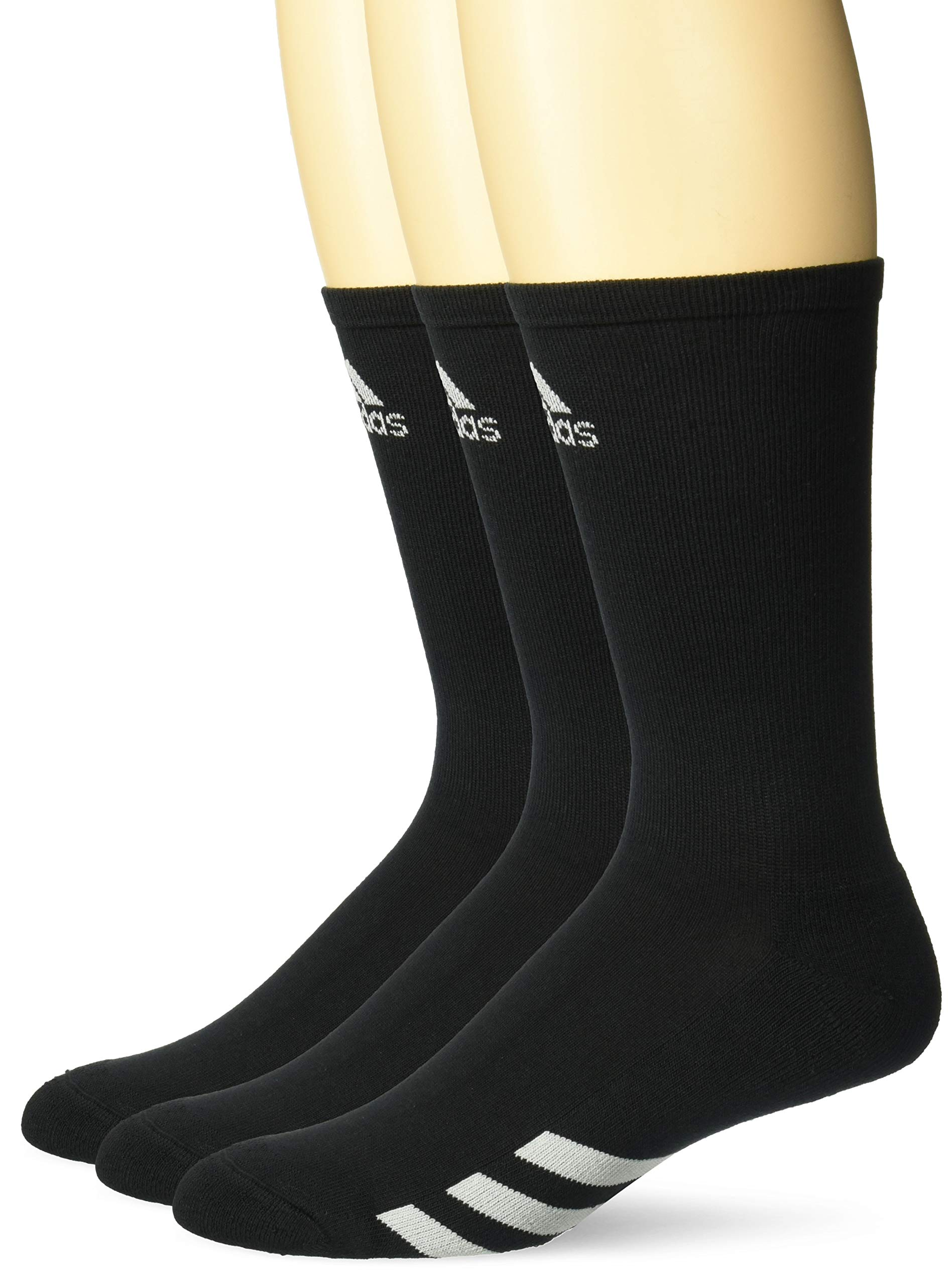 adidas Golf Men's 3-Pack Crew Sock, Black, 11-14 by adidas