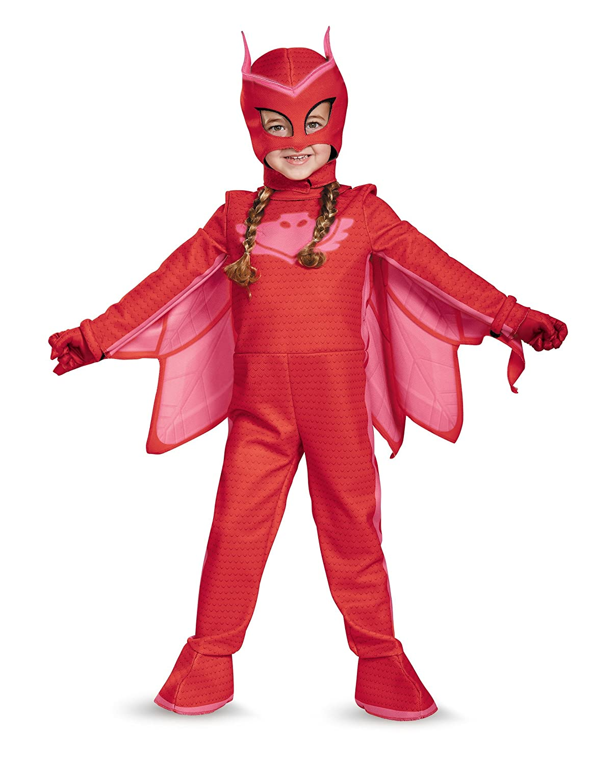 Owlette Deluxe Toddler PJ Masks Jumpsuit with Attached Boot Covers, Medium/3T-4T 17171M