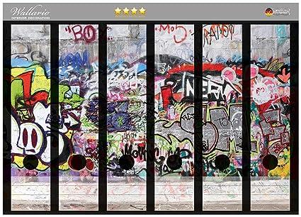 Archivadores pegatinas o pared con Graffiti en CALIDAD - tamaño 36 x 30 cm, compatible
